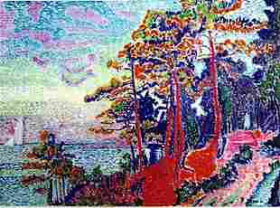 Landscape In The Lle De France Pierre Seurat