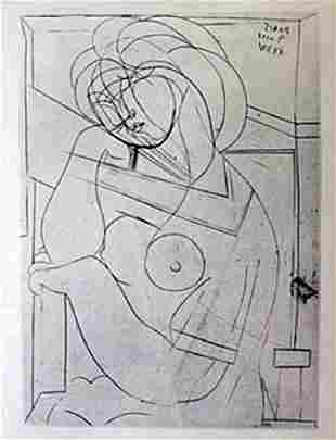 Seated Nude Lithograph Picasso