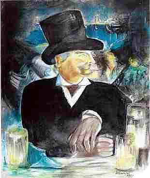 Mr Andrew Edouard Manet Pastel On Paper