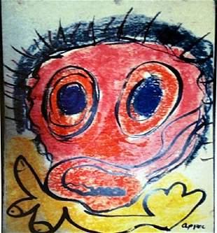 Karel Appel Oil on Paper The Boy