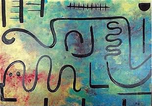 Paul Klee Oil On Paper