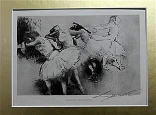 Quarte Danseuses - Louis Legrand - Drawing