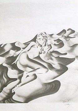 Lithograph Vogue - David Dory