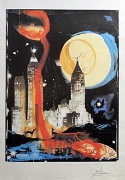 First Edition Lithograph - Manhattan Skyline - Salvador