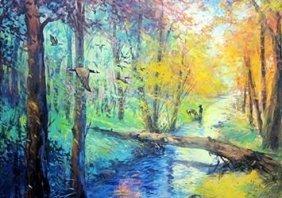Lithograph Nature's Bridge By Michael Schofield
