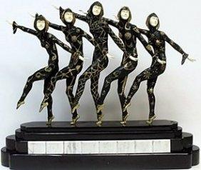 """""""course Line"""" Bronze Sculp. - D.h. Chiparus"""