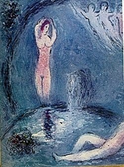Lithograph By Marc Chagall- The Nymphs' Cave Part 1