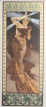 Lithograph Morning Star - Alphonse Mucha