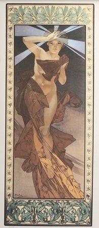 Lithograph Morning Star - Alphonse Mucha
