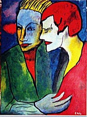 Emil Nolde - Lovers