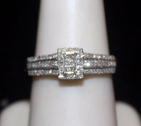 Lady's Fancy Silver Ring with Diamods (191I)