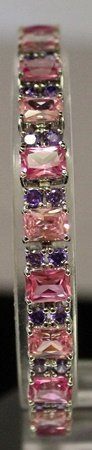 One Of A Kind Sterling Silver Lab Pink Sapphires &