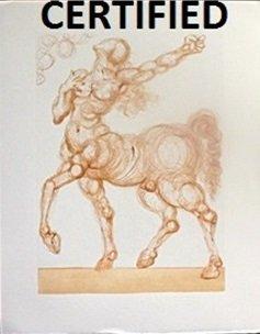 """the Centaur - Inferno 25"" Inferno 25"" By Salvador Dali"
