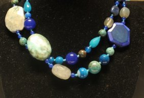 Gorgeous Agate & Jade Necklace