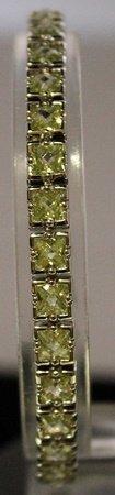 Beautiful Sterling Silver Lab Emerald Bracelet.