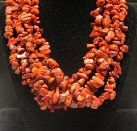 Gorgeous Five Strands Coral Necklace