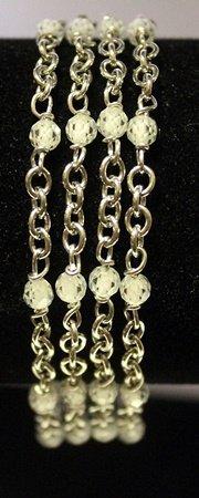 Stylish Sterling Silver Lab Agates Bracelet.