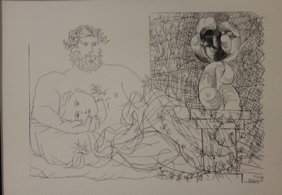 Sculptor At Rest - Lithograph - By Picasso