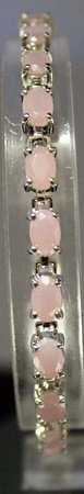Very Stylish Sterling Silver Lab Rose Pink Agate