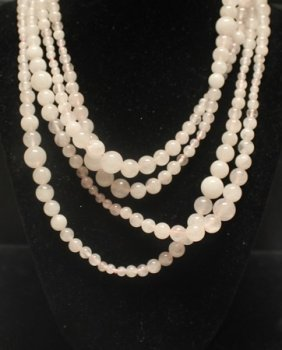 Beautiful Pink White Opal Necklace