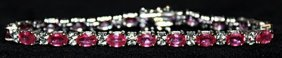 Beautiful Pigeon Blood Rubies With White Topaz Sterling