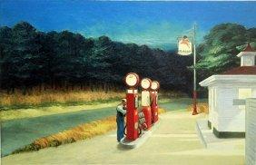 """Print """"gas 1940"""" After Edward Hopper"""