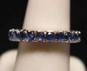 Gorgeous Blue Sapphires Ss Ring