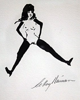 Hand Signed Femlin - Leroy Neiman