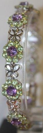 Stylish Amethyst And Peridot Bracelet