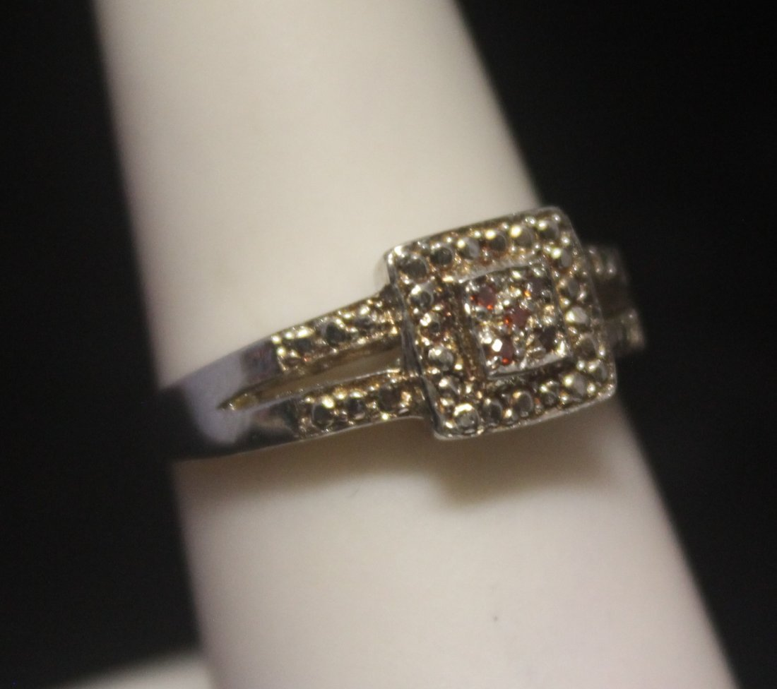 Fine Diamond Silver Ring