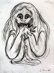 Madona - Drawing on Paper - Edvard Munch