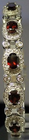 Very Fancy Sterling Silver Lab White Sapphire & Ruby