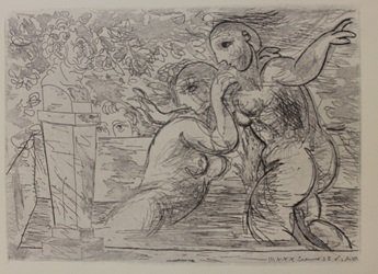 Two Nudes Bathing  - Lithograph- By Picasso