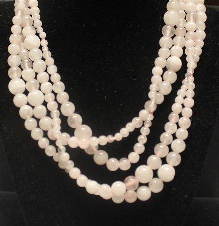 Fancy Pink Jade Necklace