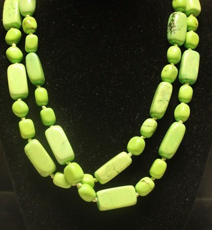 Fancy Green Turquoise Necklace