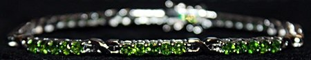 Beautiful Russian Chrome Diopside Sterling Silver