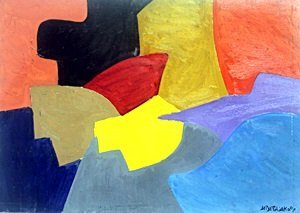 Composition - Oil Painting on Paper - Serge Poliakoff