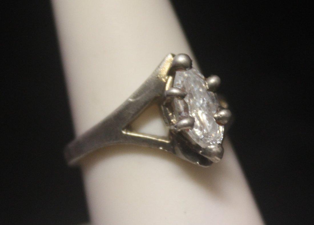 Exquisite Graduated Garnet Silver Ring