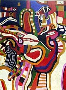 Personajes En La Mesa - Oil on Canvas - Jose Tola