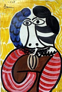 Mousquetaire - Oil Painting on Paper - Pablo Picasso