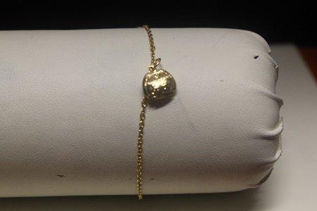 Beautiful 14kt Gold over Silver Clutch Bracelet (107B)