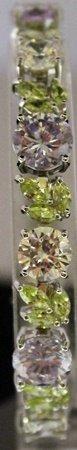 Stunning Sterling Silver Lab Multi Gem Stones Bracelet.