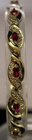 Beautiful Sterling Silver Lab Rubies & White Sapphire