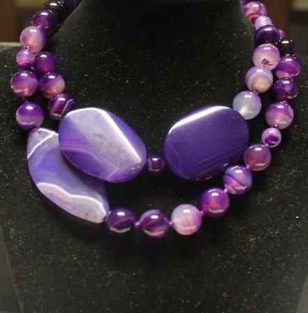 Beautiful Purple Jade Necklace