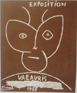 1955 vallavris Expo lithograph -  Picasso