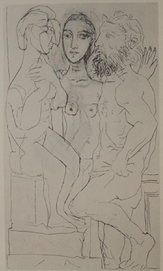 1933 Sculpture and Model Lithograph -  Picasso