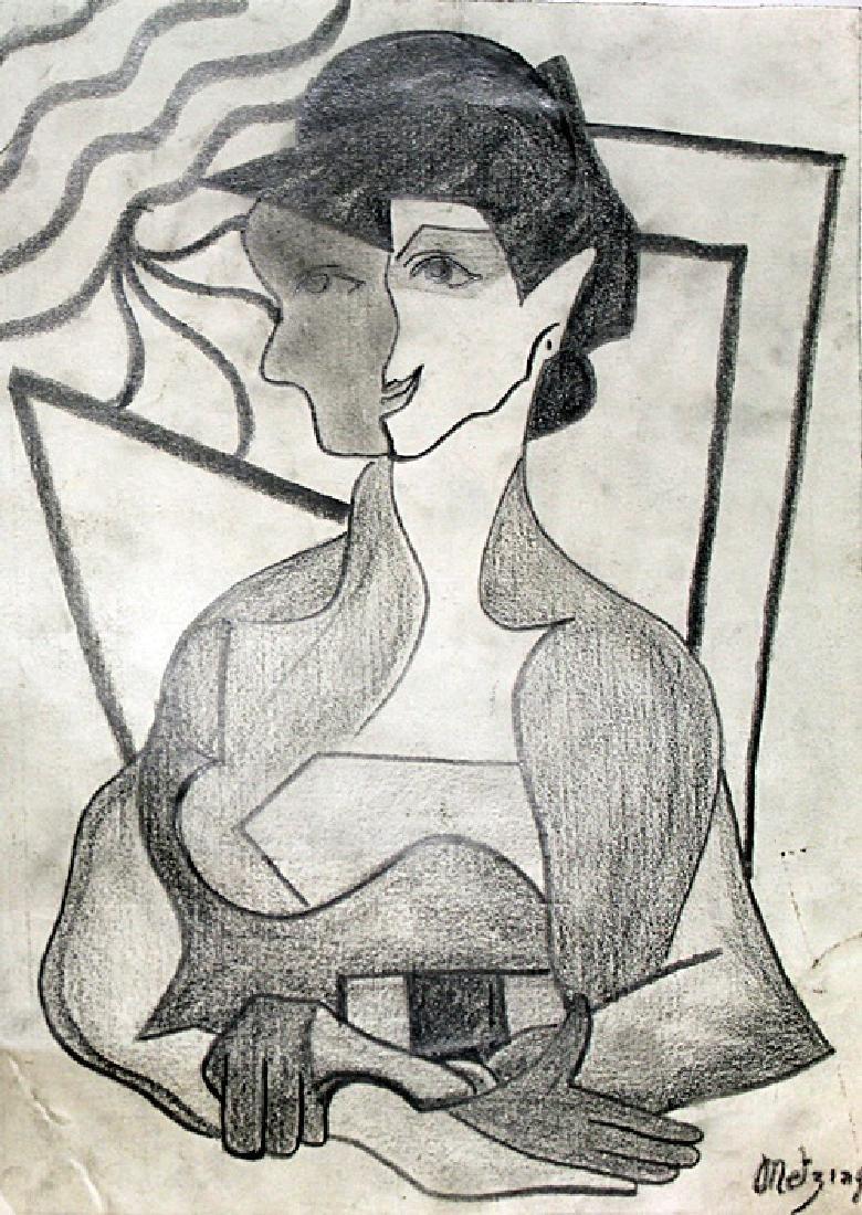 La Femme - Drawing on Paper - Jean Metzinger