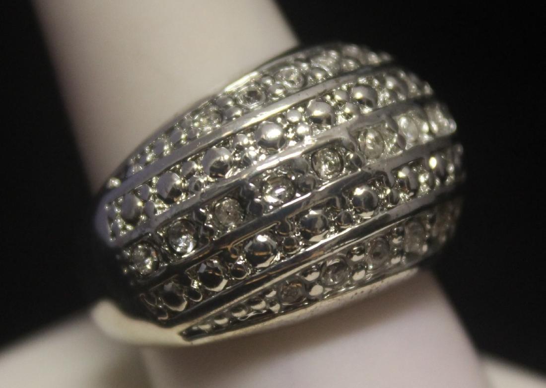 Stunning Unisex Sapphire Designer Silver Ring