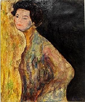 Pastel on Paper - Gustav klimt 1901'