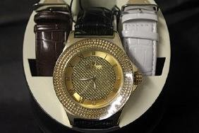 Men's Very Fancy Gold Ice Maxx Watch with Exchangable